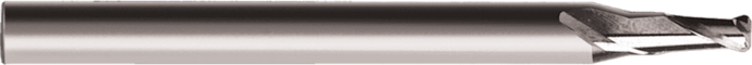 Micro Square End Two Flute Carbide End Mill Uncoated