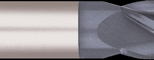 Four Flute Stub Length Ball Nose Carbide End Mill